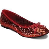 Funtasma Women's Star 16G Red Glitter