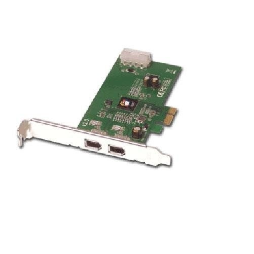 Siig I/O Controller Nn-E20012-S2 2-Port Firewire 1394A Pci-Ex1 Card 400Mbps Rohs