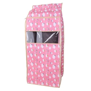 Home Dustproof Hanging Garment Clothing Cover Bag 53 x 50 x 115cm, Pink Angel