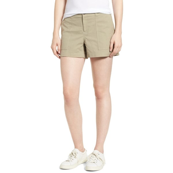 3c4d741276 Shop Nordstrom Signature Olive Sage Green Women's 12 Khaki Chino Shorts -  On Sale - Free Shipping Today - Overstock - 27696802