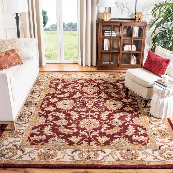 Safavieh Handmade Heritage Sharee Traditional Oriental Wool Rug. Opens flyout.