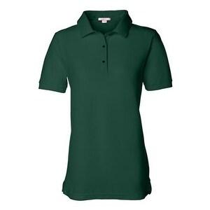 FeatherLite Women's Pique Sport Shirt - Forest Green - 3XL