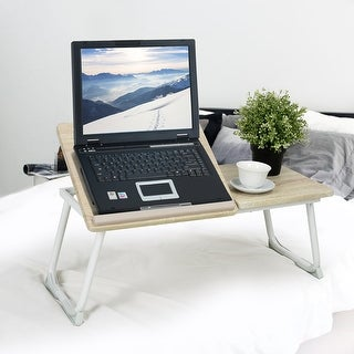 Link to Porch & Den Umiat Beech Laptop Desk Stand Tray Similar Items in Bookshelves & Bookcases