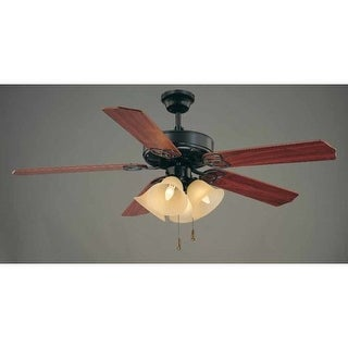 "Volume Lighting V6156 5 Blade 52"" Indoor Ceiling Fan with Sepia Glass Light Kit"