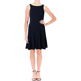 Lauren Ralph Lauren Womens Casual Dress Jersey Colorblock