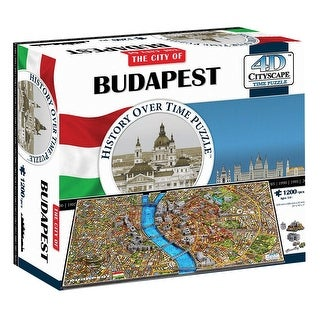 4D Cityscape Puzzle - Budapest 3D Architectural Jigsaw Puzzle with Time Layer - MultiColor
