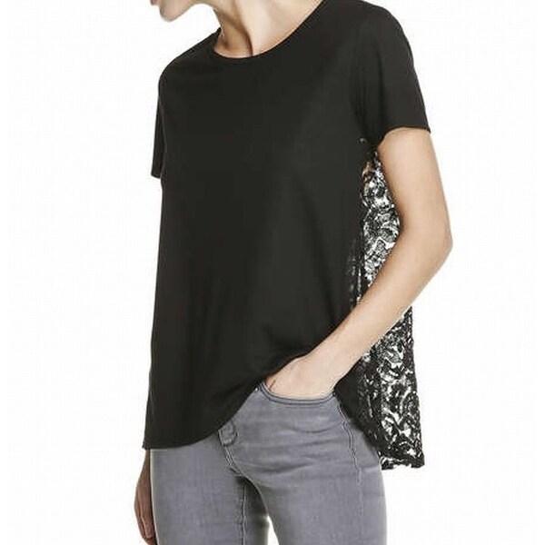 3fabdc0515e8e4 Shop Joe Fresh NEW Deep Black Women's Size XL Lace-Back Swing Knit Top - Free  Shipping On Orders Over $45 - Overstock - 20893691