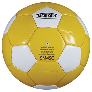 Tachikara SM4SC Recreational Soccer Ball (Gold/White)