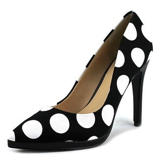Charles By Charles David Plateau Women Pointed Toe Canvas Black Heels