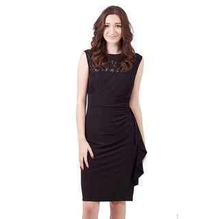 Sleeveless Pleated Jersey Sheath