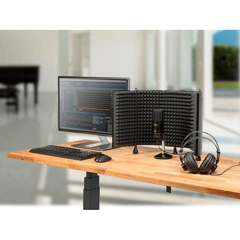 Stage Right by Monoprice Podcast PRO Bundle with Mic Isolation Shield