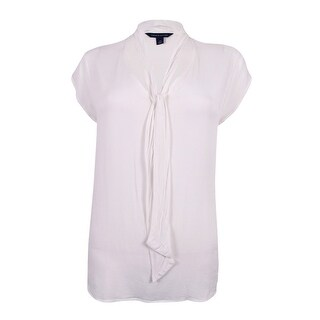 Tommy Hilfiger Women's Tie Neck Top - White (2 options available)