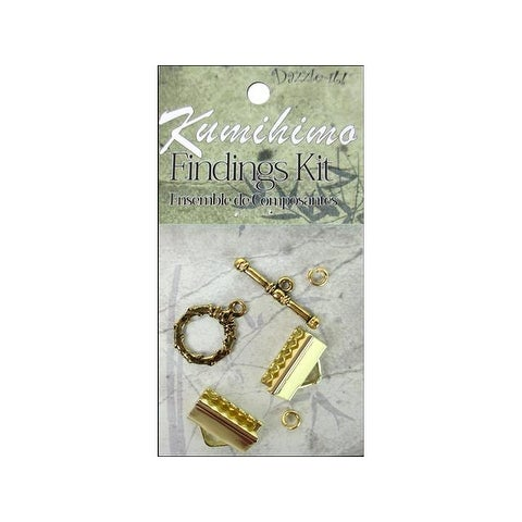 Dazzle It Kumihimo Finding Kit 16mm Gold