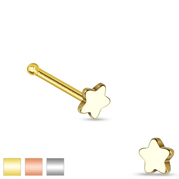 Star Top 316L Surgical Steel Nose Stud (Sold Individually)