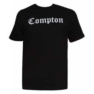 Mens Black Short-Sleeve Compton Blackletter T-Shirt
