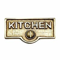 Switch Plate Tags KITCHEN Name Signs Labels Solid Brass   Renovator's Supply