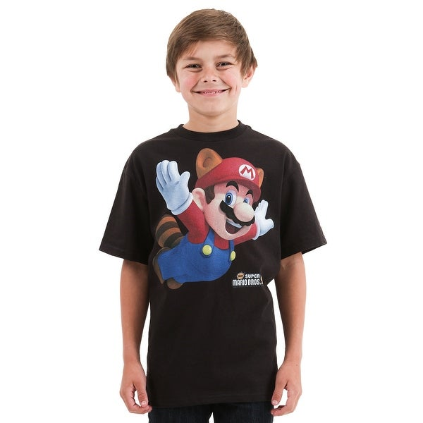 Mario Raccoon Suit Boys T-Shirt