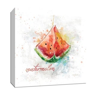 "PTM Images 9-147104  PTM Canvas Collection 12"" x 12"" - ""Fresh Watermelon"" Giclee Fruits & Vegetables Art Print on Canvas"