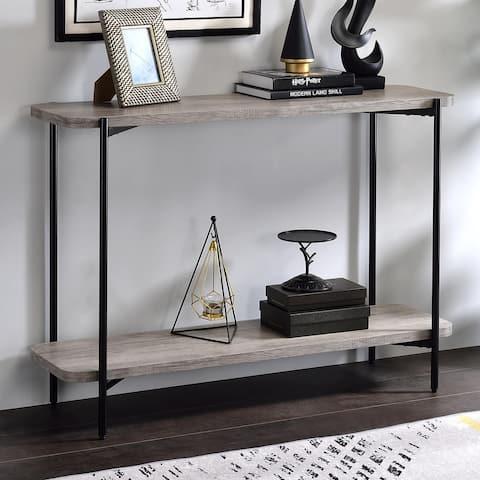 Furniture of America Gorstan Industrial Grey Sofa Table