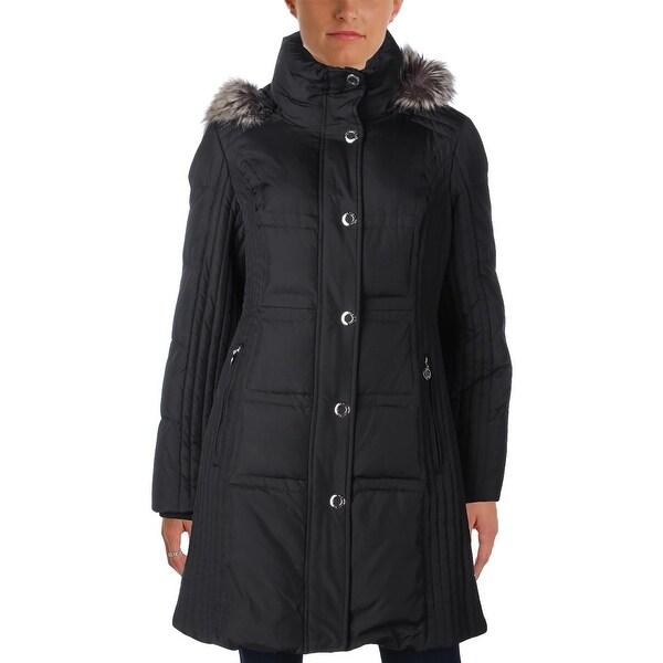 shop anne klein womens puffer coat winter down free. Black Bedroom Furniture Sets. Home Design Ideas