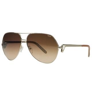 Chloe CE111/S 724 Gold/Peach Aviator Sunglasses
