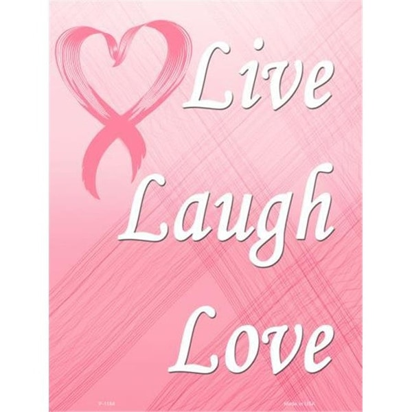 Shop Smart Blonde Live Laugh Love Breast Cancer Metal Novelty Parking Sign  - Free Shipping On Orders Over $45 - Overstock - 24764440