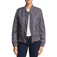 Anorak Women's Large Quilted Full-Zip Bomber Jacket