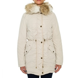 Laundry By Design Puffer Coat with Elbow Patch