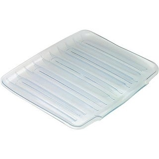 Shop Rubbermaid Home Large White Drainer Tray Fg1182mawht