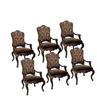 Palladio Arm Dining Chair, Fabric back Set of 6 - Neutral
