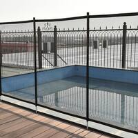 Costway 4'x12' In-Ground Swimming Pool Safety Fence Section Prevent Accidental Drowning - Black