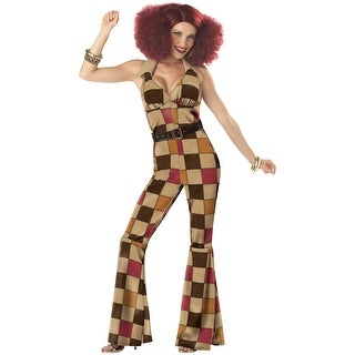 California Costumes Boogie Babe Adult Costume - Brown