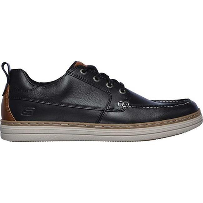 Skechers Men's Heston Sendo Moc Toe Oxford Black