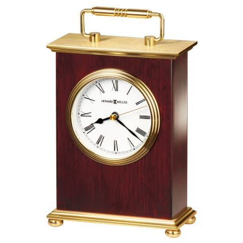 Howard Miller Rosewood Bracket Vintage, Transitional, Mid-Century Modern Style Accent Mantel Clock, Reloj del Estante