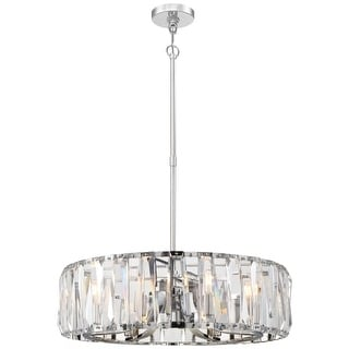 "Metropolitan N7509-77 8 Light 26"" Wide Crystal Drum Chandelier with Clear Glass"