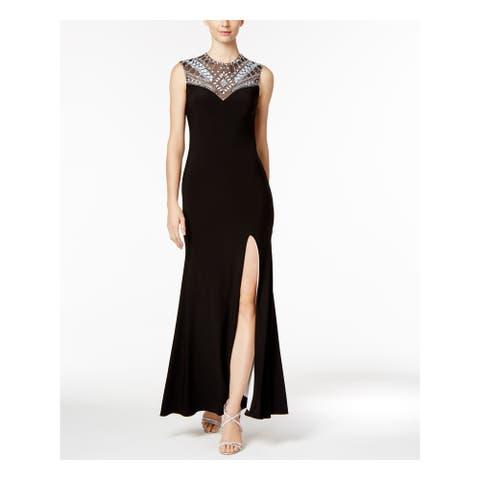 BETSY & ADAM Womens Black Sleeveless Full Length Formal Dress Size 6