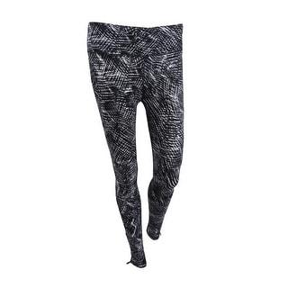 DKNY Women's Sport Printed Athletic Leggings XS, Charcoal - XS