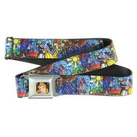 Walt Disney Movies TV Shows Beauty & the Beast Stain Glass Seatbelt Belt