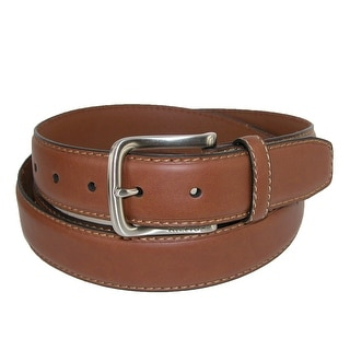 Tommy Hilfiger Men's Big & Tall Stitch Edge Belt with Harness Buckle - Brown