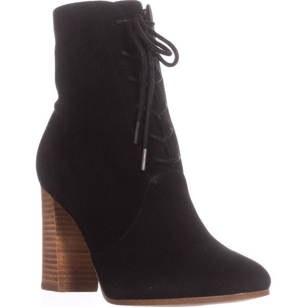 Marc Fisher Edina Lace Up Booties, Black - 7.5 us