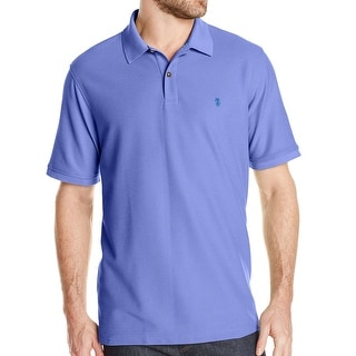 IZOD NEW Solid Purple Pique Mens Size Medium M Polo Rugby Shirt