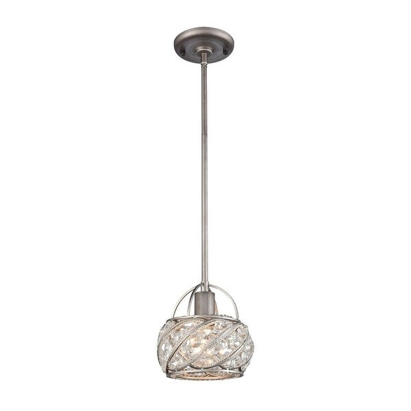 Factory Holt - One Light Mini Pendant Weathered Zinc Finish with Clear Crystal. Opens flyout.