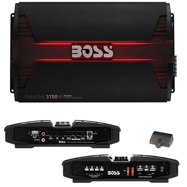 Boss PHANTOM 3700 Watts 5 Channel Power Amplifier Remote Subwoofer Level Control