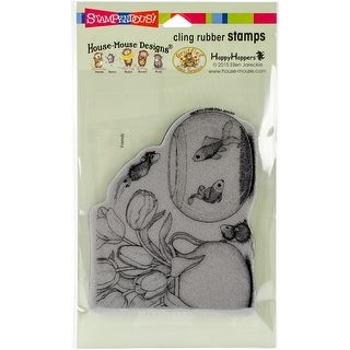 """Stampendous House Mouse Cling Stamp 7.75""""X4.5""""-Fish Bowl Dive"""