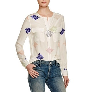 Equipment Womens Casual Top Silk Floral Print - m