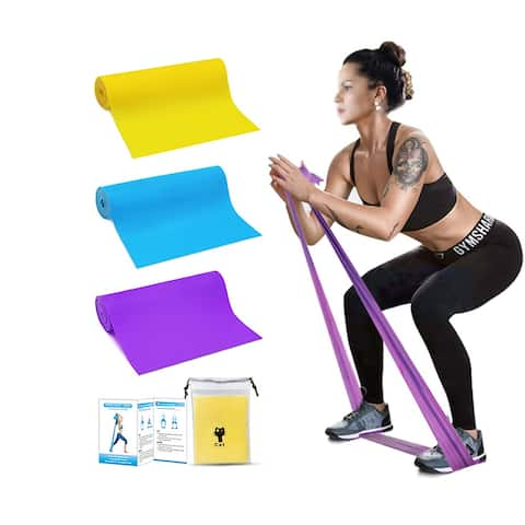 Moda Resistance Loop Exercise Body Bands Set of 3 Pieces with Carry Bag