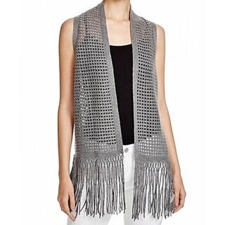 Elie Tahari Women's Small Fringe Wool Cashmere Sweater Vest