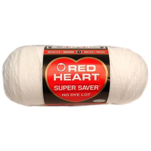 C&C Red Heart Super Saver Yarn 7oz White