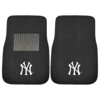 "MLB - New York Yankees 2-piece Embroidered Car Mats 18""x27"""