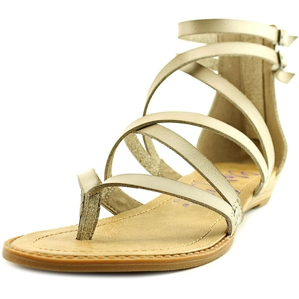 Blowfish Bungalow Women Open Toe Leather Ivory Gladiator Sandal